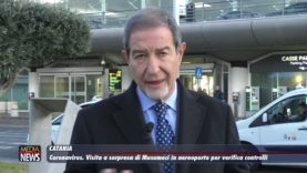 Catania. Coronavirus, visita a sorpresa di Musumeci in aeroporto per verifica controlli
