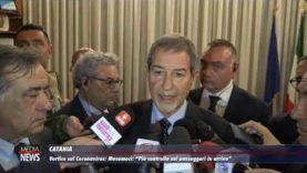 Catania. Vertice convocato dal governatore Musumeci per fare il punto sul Coronavirus