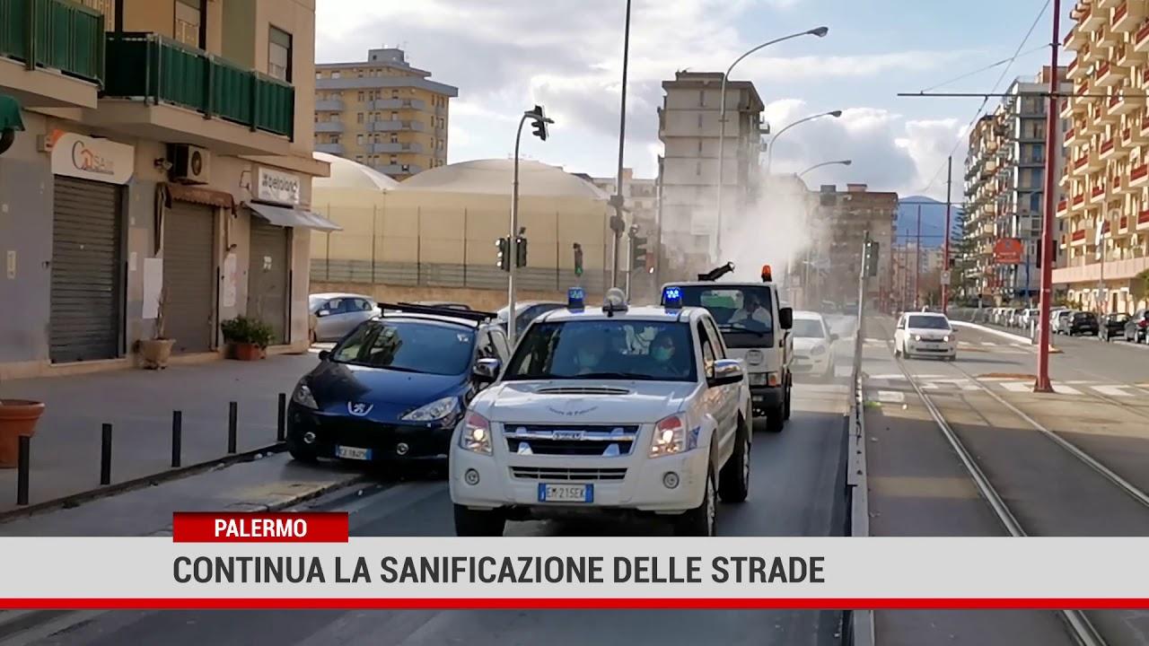Palermo.Continua la sanificazione delle strade