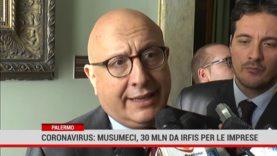 Palermo. Coronavirus: Musumeci, 30 milioni da IRFIS per le imprese