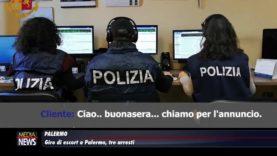 Palermo: Giro di escort in pieno centro: facevano prostituire 10 palermitane, tre arresti