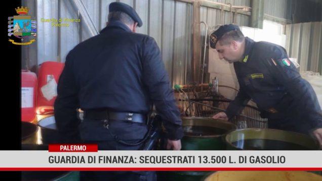 Palermo. Guardia di finanza: sequestra 13.500 litri di gasolio