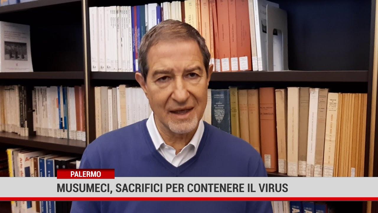 Palermo. Musumeci, sacrifici per contenere il virus