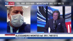 ALESSANDRO MONTES PRESIDENTE ACS IN DIRETTA SU TELE ONE IN 19LIVE