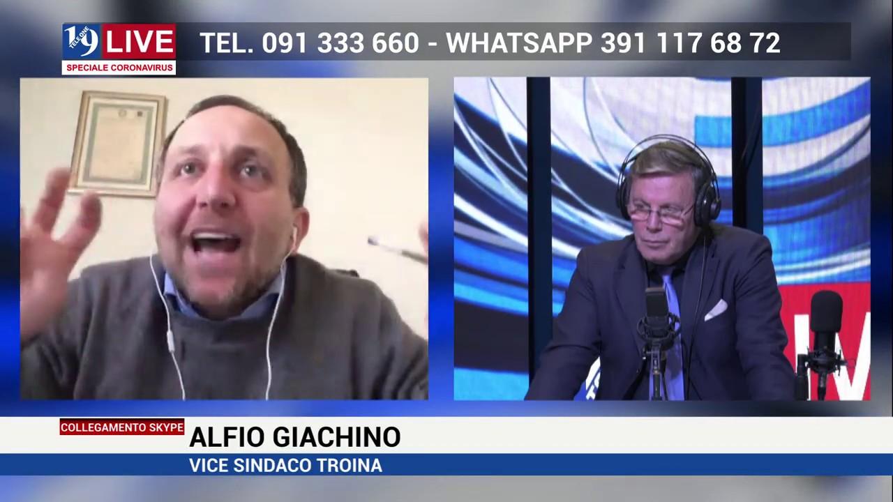 ALFIO GIACHINO VICE SINDACO DI TROINA OSPITE DI 19 LIVE IN DIRETTA SU TELE ONE