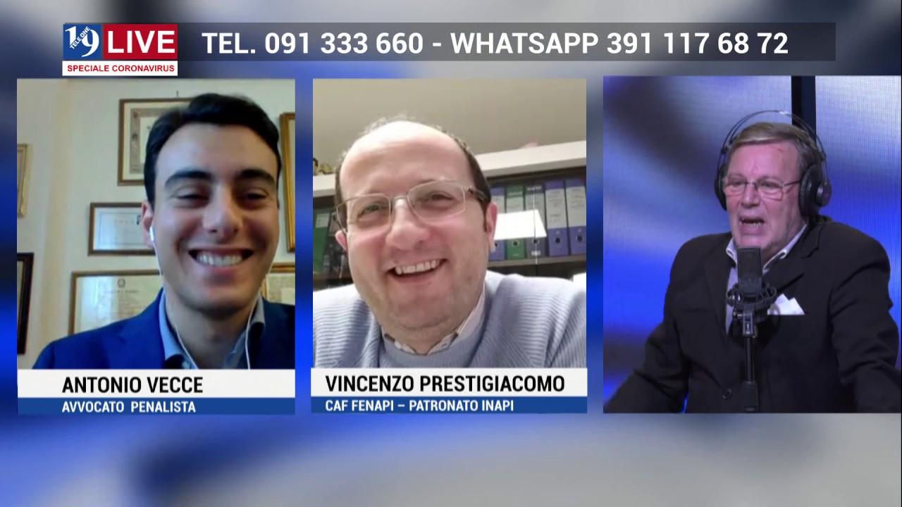 ANTONIO VECCE e VINCENZO PRESTIGIACOMO in diretta TV su TELE ONE in 19 LIVE