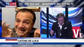 Cateno De Luca ne ha per tutti in diretta TV su Tele One