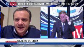 Cateno De Luca si sfoga in diretta TV su TELE ONE