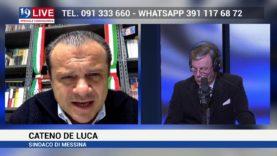 CATENO DELUCA SINDACO DI MESSINA IN DIRETTA TV SU TELE ONE IN 19 LIVE