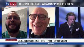 CLAUDIO CONSTANTINO E VITTORIO VIRZI IN DIRETTA SU TELE ONE IN 19 LIVE