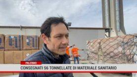 Consegnate 56 tonnellate di materiale sanitario