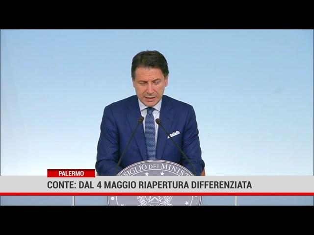 Conte, dal 4 maggio riapertura differenziata
