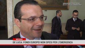 De Luca: fondi europei non spesi per l'emergenza