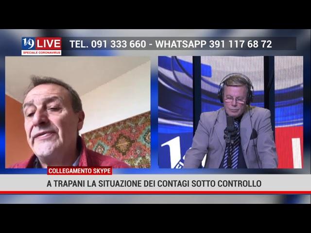 Giacomo Tranchida in diretta su Tele One. A Trapani la situazione dei contagi è sotto controllo