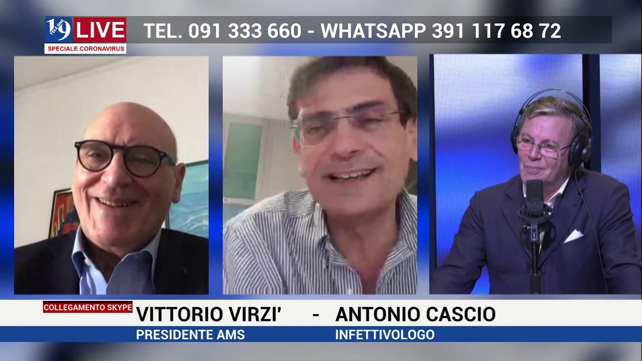 Il Dr. Antonio Cascio e e il Dr. Vittorio Virzì a 19 Live del 18 aprile 2020