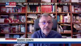 Il Magistrato Mario Conte in diretta TV su Tele One