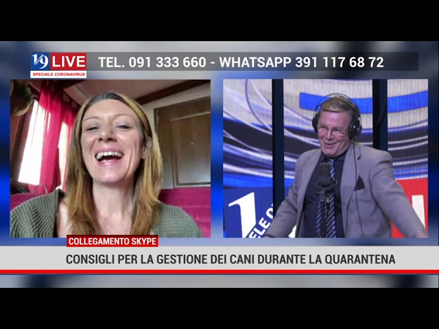 Ilenia Rimi in diretta su Tele One in 19 Live consigli per l gestione dei cani durante la quarantena