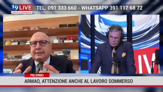 Intervento Assessore Gaetano Armao per l'emergenza coronavirus su 19Live in diretta su Tele One