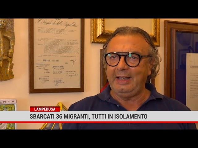 Lampedusa. Sbarcati 36 migranti, tutti in isolamento