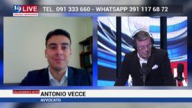 L'Avv. Antonio Vecce in diretta su Tele One parla delle norme previste per fronteggiare l'emergenza