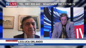 Leoluca Orlando Sindaco di Palermo in diretta TV su Tele One