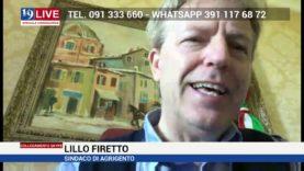 LILLO FIRETTO SINDACO DI AGRIGENTO IN DIRETTA SU TELE ONE