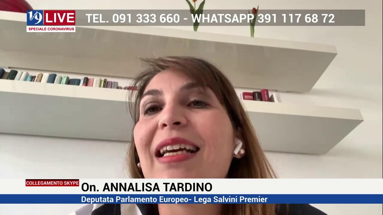 L'On. Annalisa Tardino, eurodeputato della Lega, a 19 Live del 18 aprile 2020