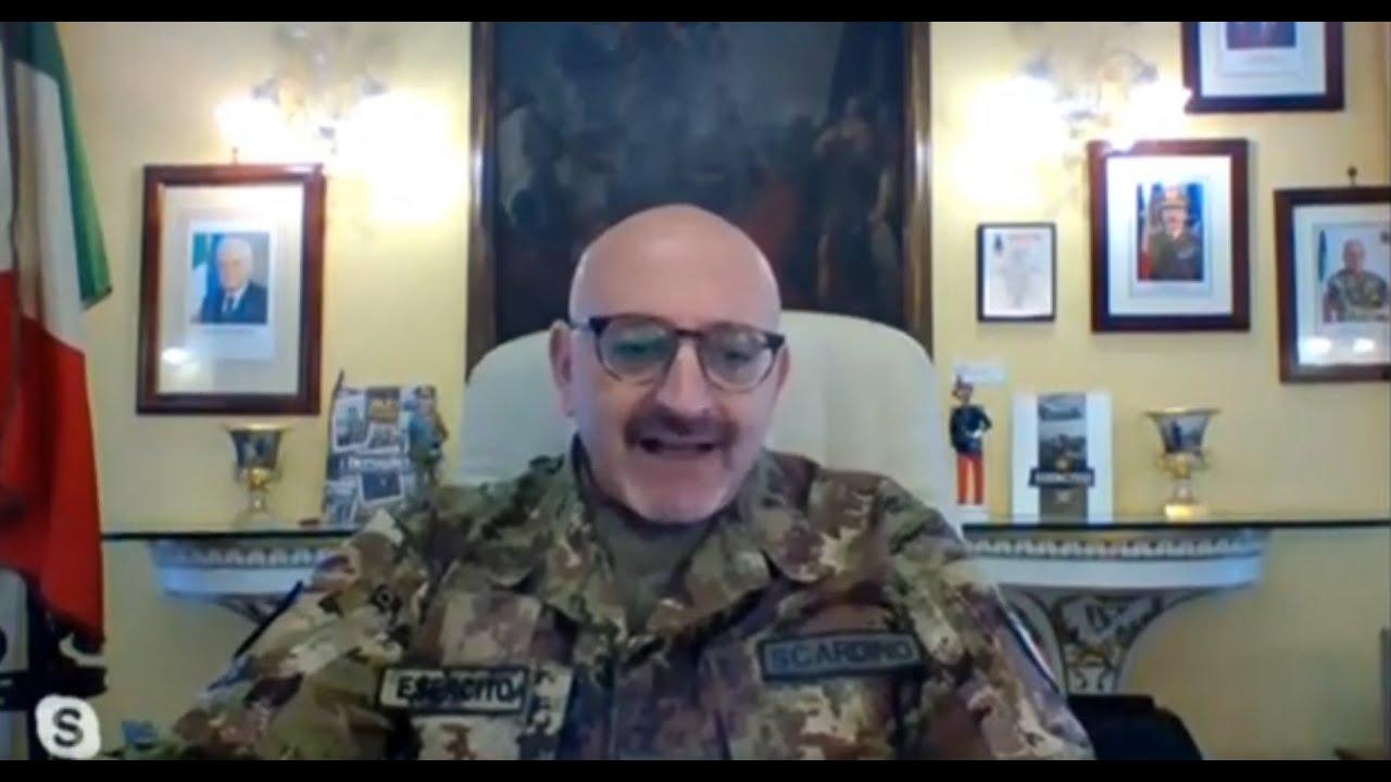 Luci sulla città con il Generale di divisione Scardino, Comandante militare dell'Esercito in Sicilia