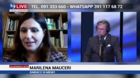 MARILENA MAUCERI SINDACO DI MENFI IN DIRETTA SU TELE ONE IN 19 LIVE