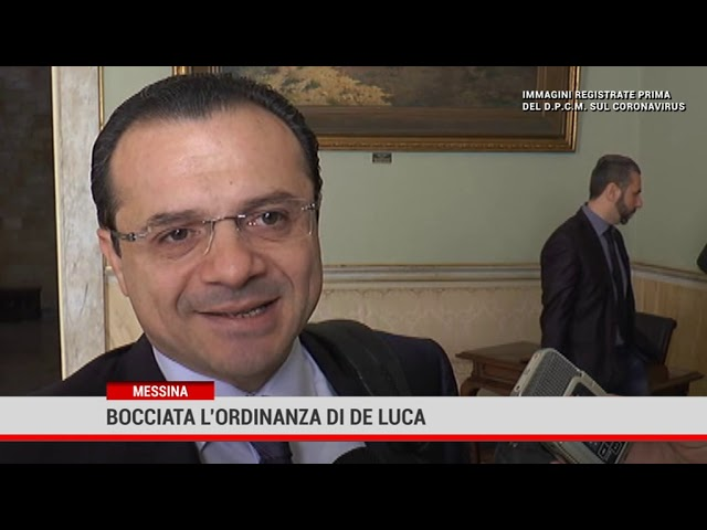 Messina. Bocciata l'ordinanza di De Luca
