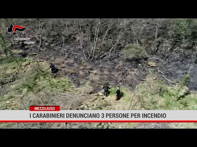 Mezzojuso. I Carabinieri denunciano 3 persone per incendio