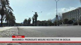 Musumeci: prorogate misure restrittive in Sicilia