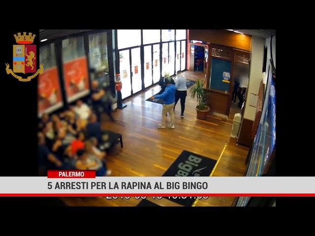 Palermo. 5 arresti per la rapina al Big Bingo