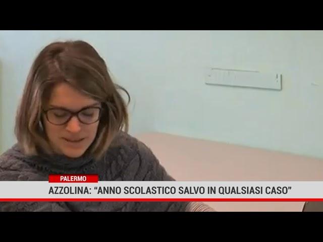 """Palermo. Azzolina:"""" Anno scolastico salvo in qualsiasi caso"""""""