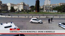 Palermo. ControlliPolizia municipale. Drone a  Mondello