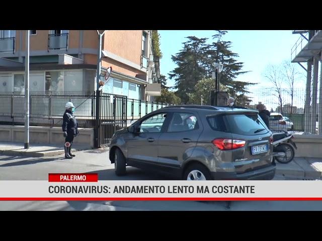 Palermo. Coronavirus: andamento lento ma costante
