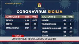 Palermo. Coronavirus: in Sicilia boom di guariti
