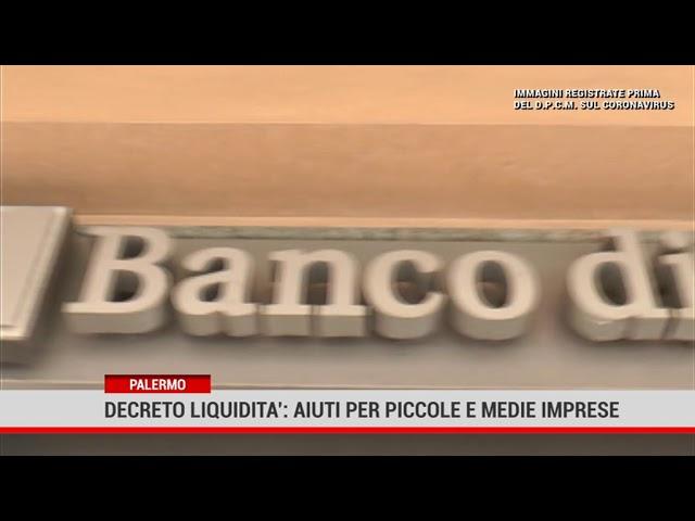 Palermo. Decreto liquidità: aiuti per piccole e medie imprese