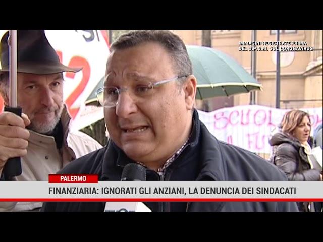 Palermo. Finanziaria: ignorati gli anziani, la denuncia dei sindacati