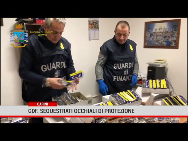 Palermo. Gdf: sequestrati occhiali di protezione
