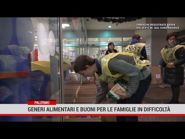 Palermo. Generi alimentari e buoni per famiglie in difficoltà