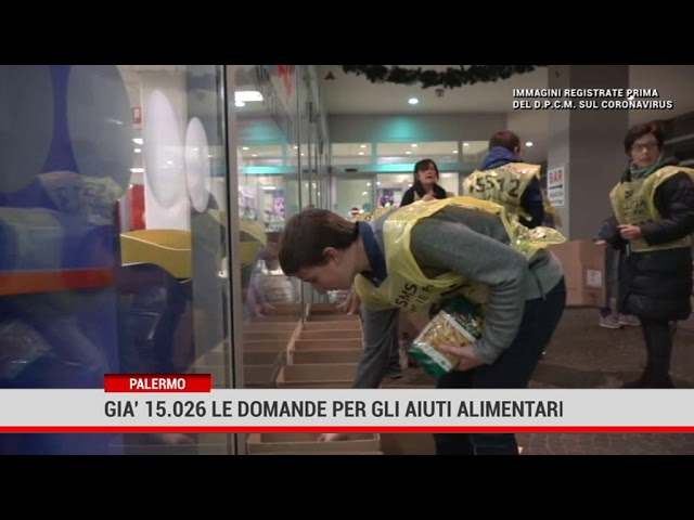 Palermo. Già 15.026 le domande per gli aiuti alimentari