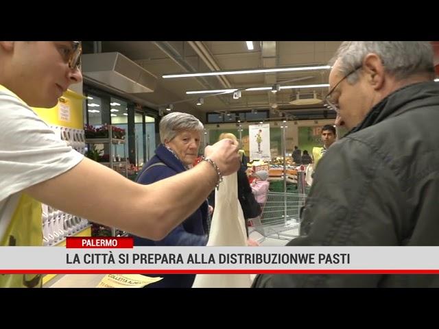 Palermo, la città di prepara alla distribuzione dei pasti