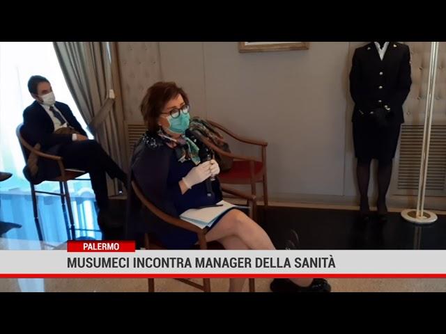 Palermo. Musumeci incontra manager della Sanità