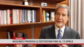 Palermo. Musumeci proroga le restrizioni fino al 13 aprile