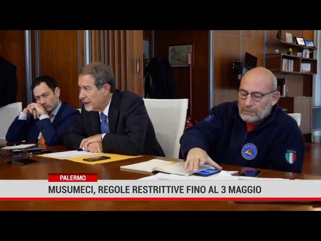 Palermo. Musumeci, regole restrittive fino al 3 maggio