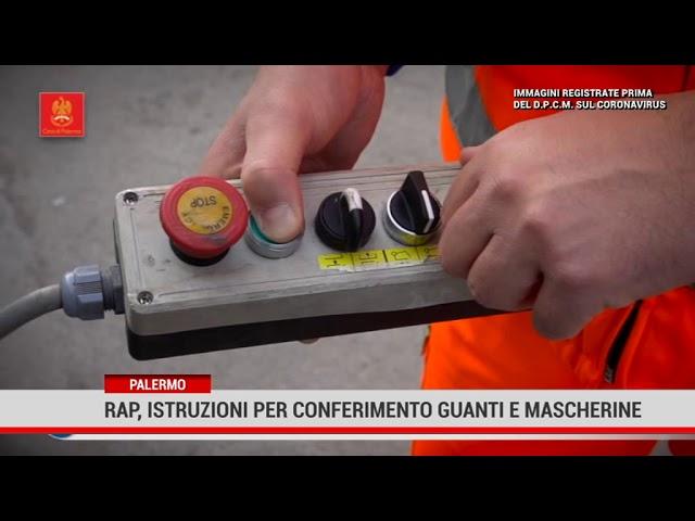 Palermo. Rap: istruzioni per conferimento guanti e mascherine