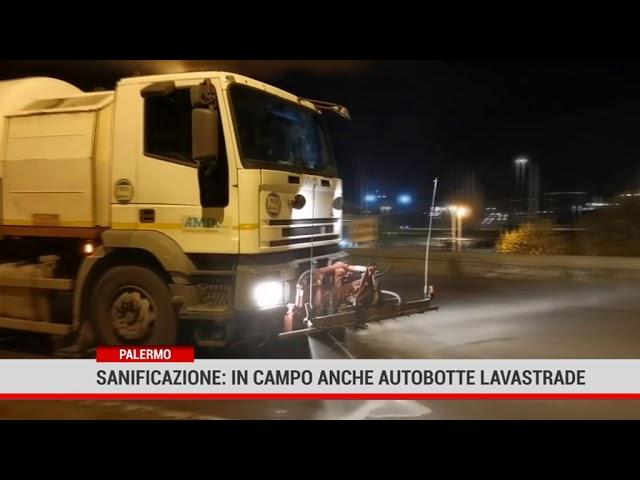Palermo. RAP: sanificazione, in campo anche autobotte lavastrade