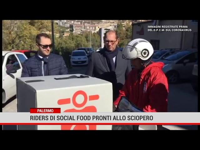 Palermo. Riders di social food pronti allo sciopero