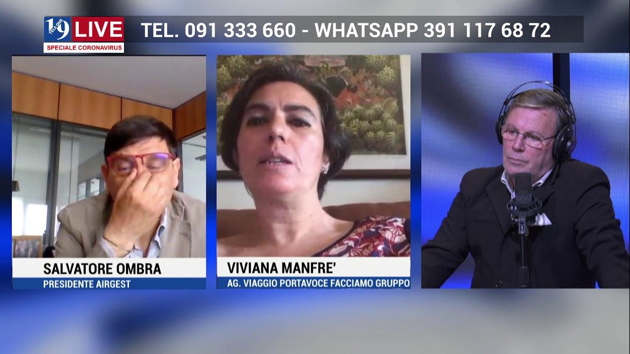 SALVATORE OMBRA AIRGET e VIVIANA MANFRE' IN DIRETTA TV su TELE ONE in 19 LIVE